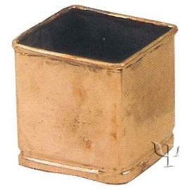 Turkish Copper Square Lugless Flower Pot