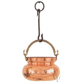 Turkish Copper Rounded Bucket (Large)