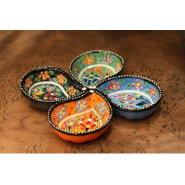 Iznik Design Ceramic Dip Set of Four