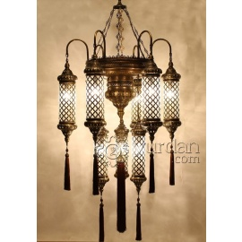 Ottoman Chandelier with 9 Globes - FREE SHIPPING