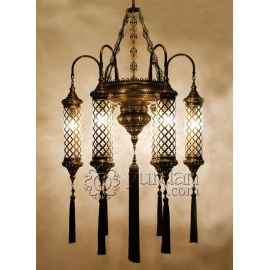 Ottoman Chandelier with 16 Globes - FREE SHIPPING