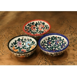 Iznik Design Ceramic Bowl Set - Carnation