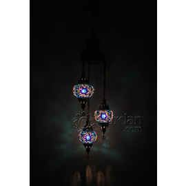 Mosaic Chandelier with 3 Globes
