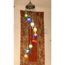 Pyrex Glass Ottoman Chandelier