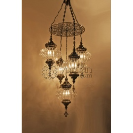 Ottoman Chandelier with 7 Globes