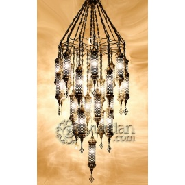 Ottoman Chandelier with 25 Globes