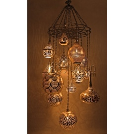 Alsahara Chandelier with 13 Globes