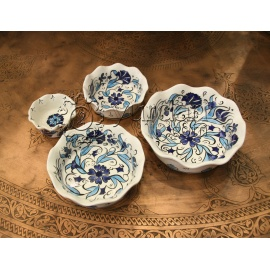 Iznik Design Ceramic Bowl Set - Food safe