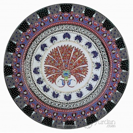 Iznik Design Ceramic Plate - Phosphorous