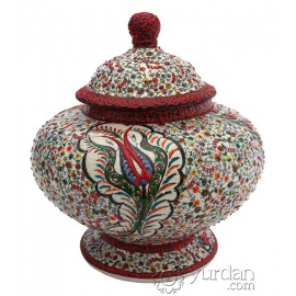 Iznik Design Ceramic Jar - Phosphorous
