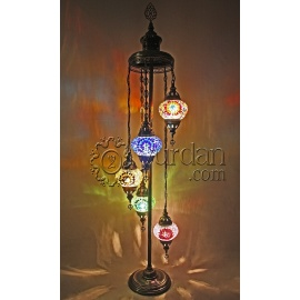 Mosaic Floor Lamp with 5 Globes
