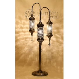 Ottoman Floor Lamp with 3 Globes