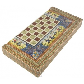 Mother of Pearl Intarsia Backgammon & Checkers Box Set