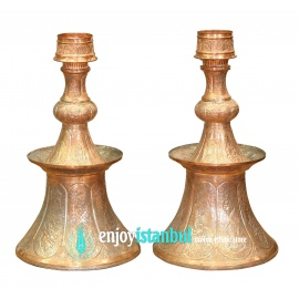 Turkish Copper Candle Holders
