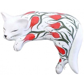 Iznik Design Ceramic Big Cat
