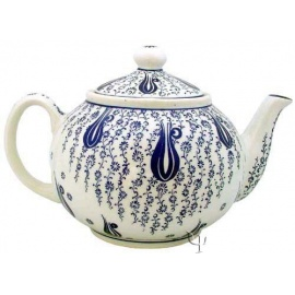 Iznik Design Ceramic Teapot