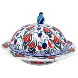 Iznik Design Ceramic Sugar - Bowl