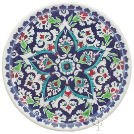 Iznik Design Ceramic Plate - Baba Nakkash