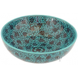 Iznik Design Ceramic Bowl - Turquoise Carnation