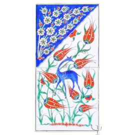 Iznik Tile Panel - Quartz