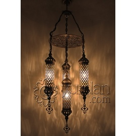 Ottoman Chandelier with 4 Globes - FREE SHIPPING