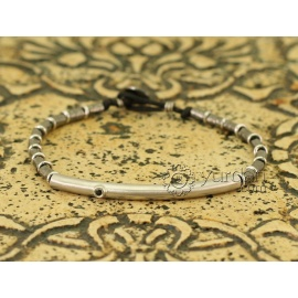 Artisan Silver and Diamond Bracelet