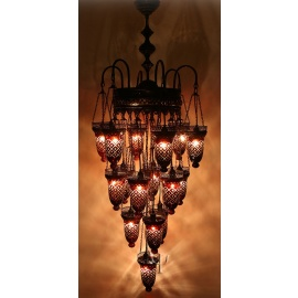 Ottoman Chandelier with 16 Globes