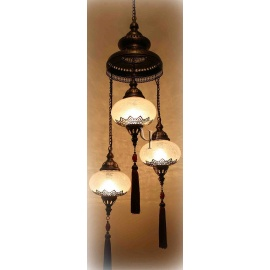 Ottoman Chandelier with 3 Globes