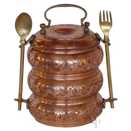 Turkish Copper Portable food containes