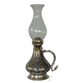 Turkish Copper Oil - Lamp With Glass
