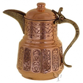 Turkish Copper Sliced Milk Pot
