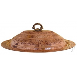 Turkish Copper Food Dish with a Lid
