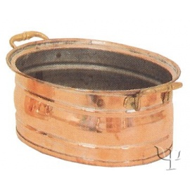 Turkish Copper Oval Planter (Small)