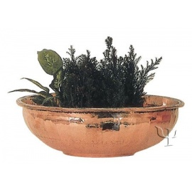 Turkish Copper Rounded Flanged Planter