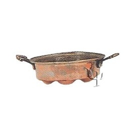 Turkish Copper Egg - pan with Handles (Small)