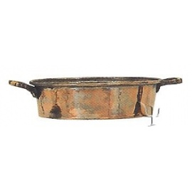 Turkish Copper Frying - pan with Handle (Small)