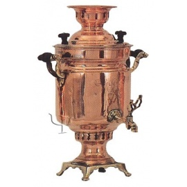 Turkish Copper Cylindrical Samovar