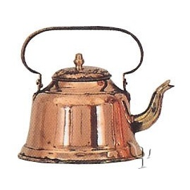 Turkish Copper Tea - kettle (Medium)