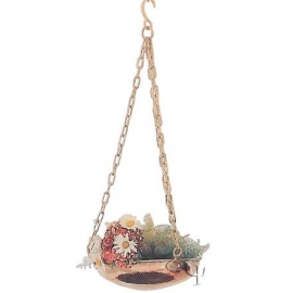 Turkish Copper Hanging Planter (Small)