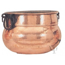 Shaped Cauldron with iron Handles (Large)