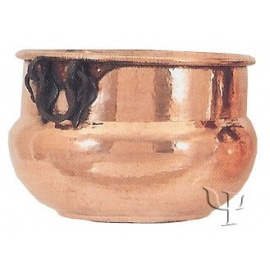 Shaped Cauldron with iron Handles (Medium)