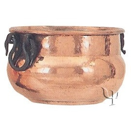 Shaped Cauldron with iron Handles (Small)
