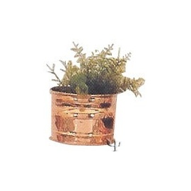 Turkish Copper Wall Flower - Pot (Small)