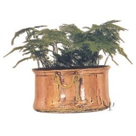 Turkish Copper Flower - Pot with Cauldron Handles (Large)