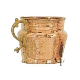 Turkish Copper Mug with Brass Handle