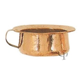 Turkish Copper Low Mug with Copper Handle (Large)