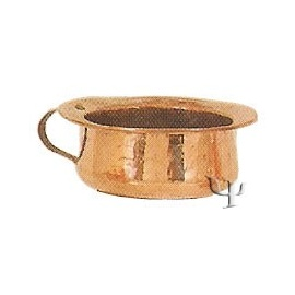 Turkish Copper Low Mug with Copper Handle (Medium)