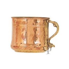 Turkish Copper Mug with Two Brass Handles