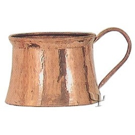 Turkish Copper Marash Mug with Copper Handle (Large)