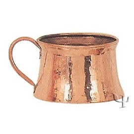 Turkish Copper Marash Mug with Copper Handle (Medium)